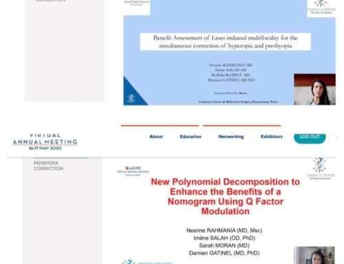 [RECHERCHE] Plébiscite des travaux de recherche de l'équipe du Dr Gatinel sur la Presbytie dans les congrès internationaux